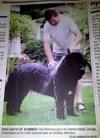 Photo of Georgie (Schooner x Navy pup) in the 'Glengarry News'