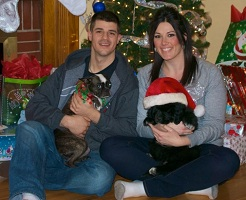 Lexi enjoying Christmas with her new family