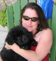 Newfoundland puppy Winnifred and Karen